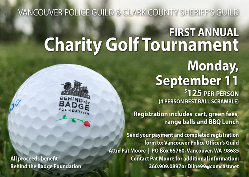 Vancouver Police Guild & Clark County Sheriff's Guild First Annual Charity  Golf Tournament | Behind the Badge Foundation